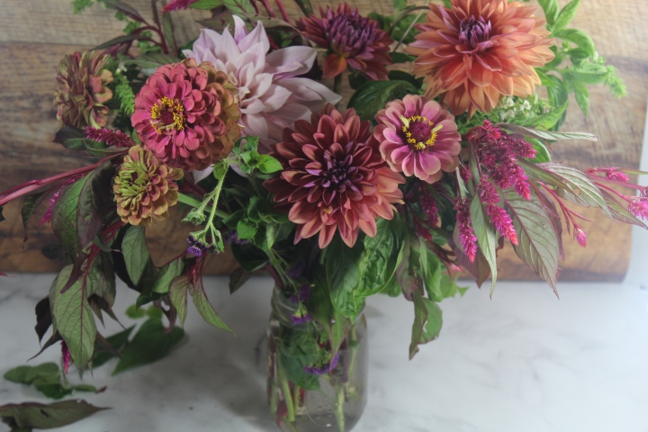 Picking the Last Dahlias from the Garden – Pretend Cut Flower Farm